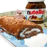 rotolo-nutella-e-panna-150x150 Torta pinguì - ricetta torta al cacao farcita di nutella  e panna, con glassa al cioccolato