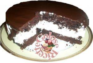 torta-pinguì-interno-300x205 Torta pinguì - ricetta torta al cacao farcita di nutella  e panna, con glassa al cioccolato