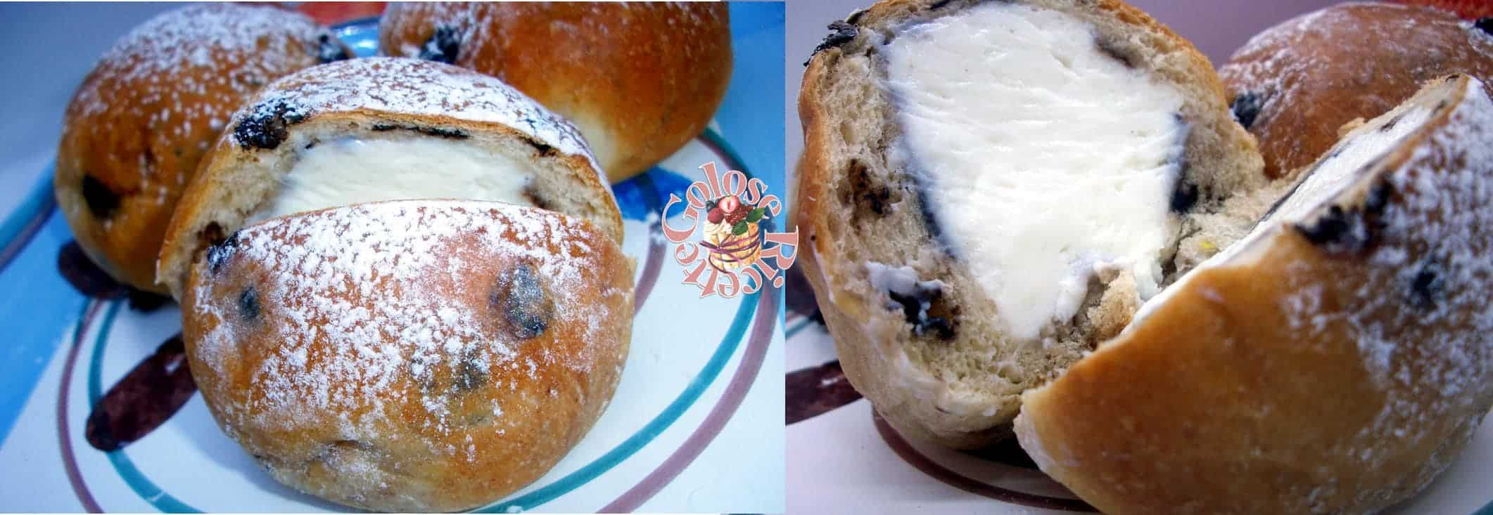 pan-di-ricotta6 Fiocchi di neve - brioche con cioccolato e crema di ricotta DOLCI LIEVITATI LIEVITATI