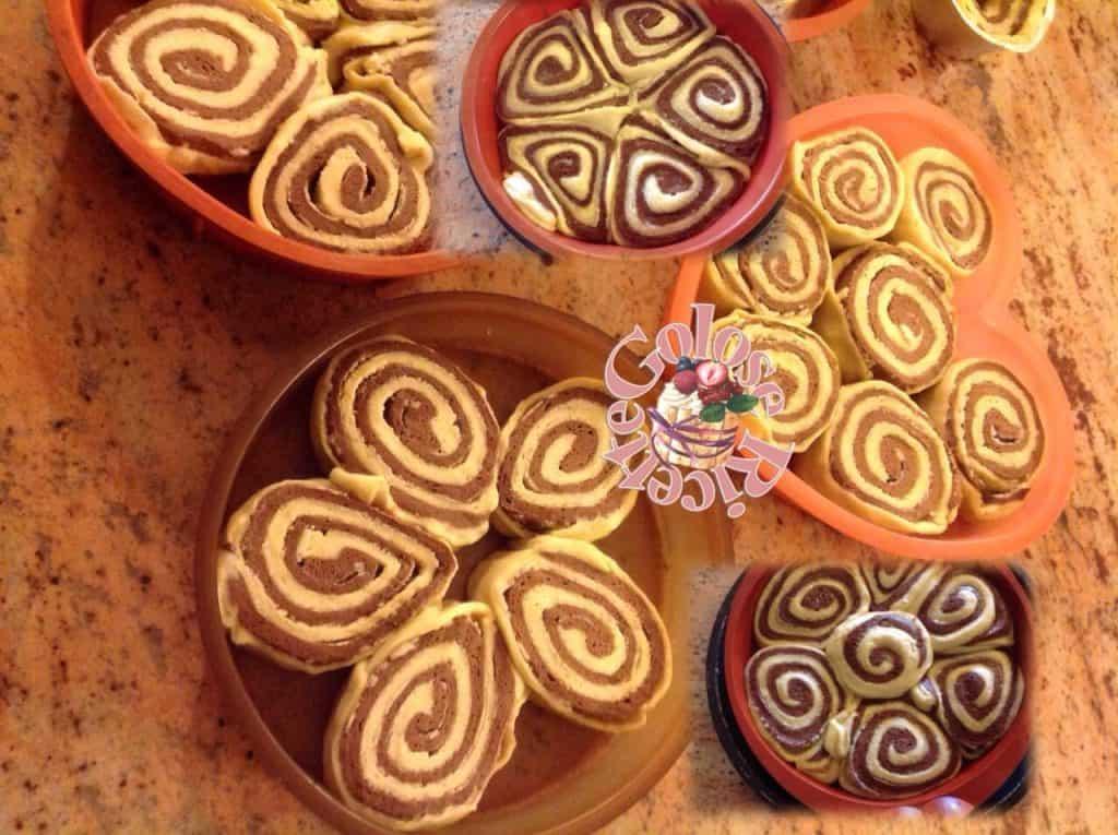 Brioche bicolore vaniglia e cacao con licoli