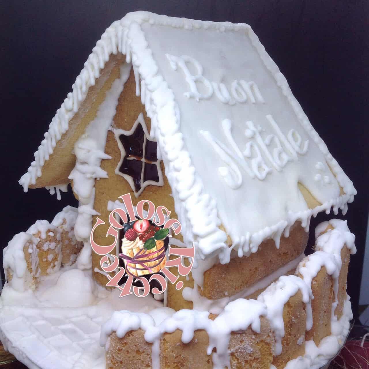 Torte Decorate Per Natale casetta di natale e biscotti decorati