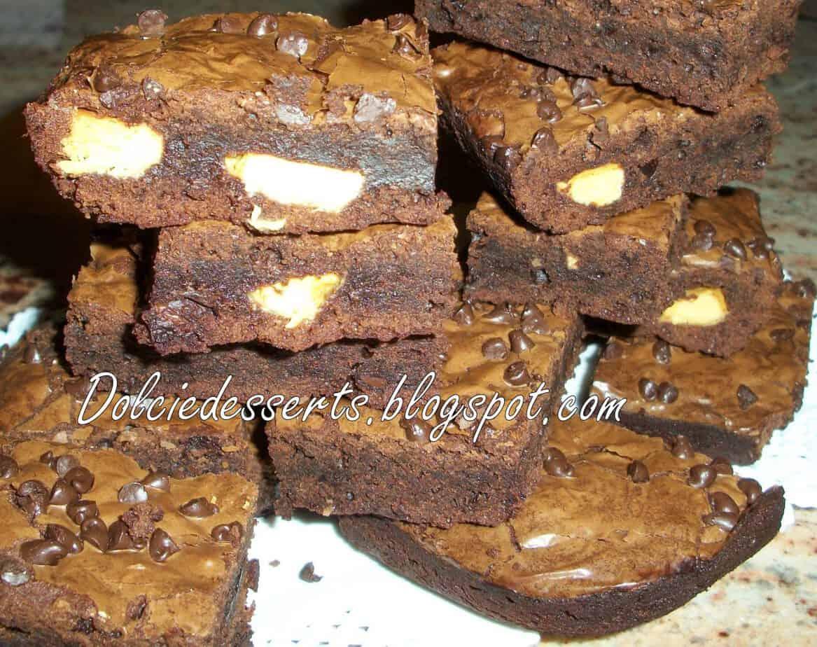 Triple chocolate brownies la ricetta Americana
