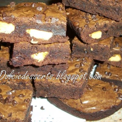 Triple chocolate brownies