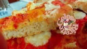 Pizza in teglia veloce senza impasto