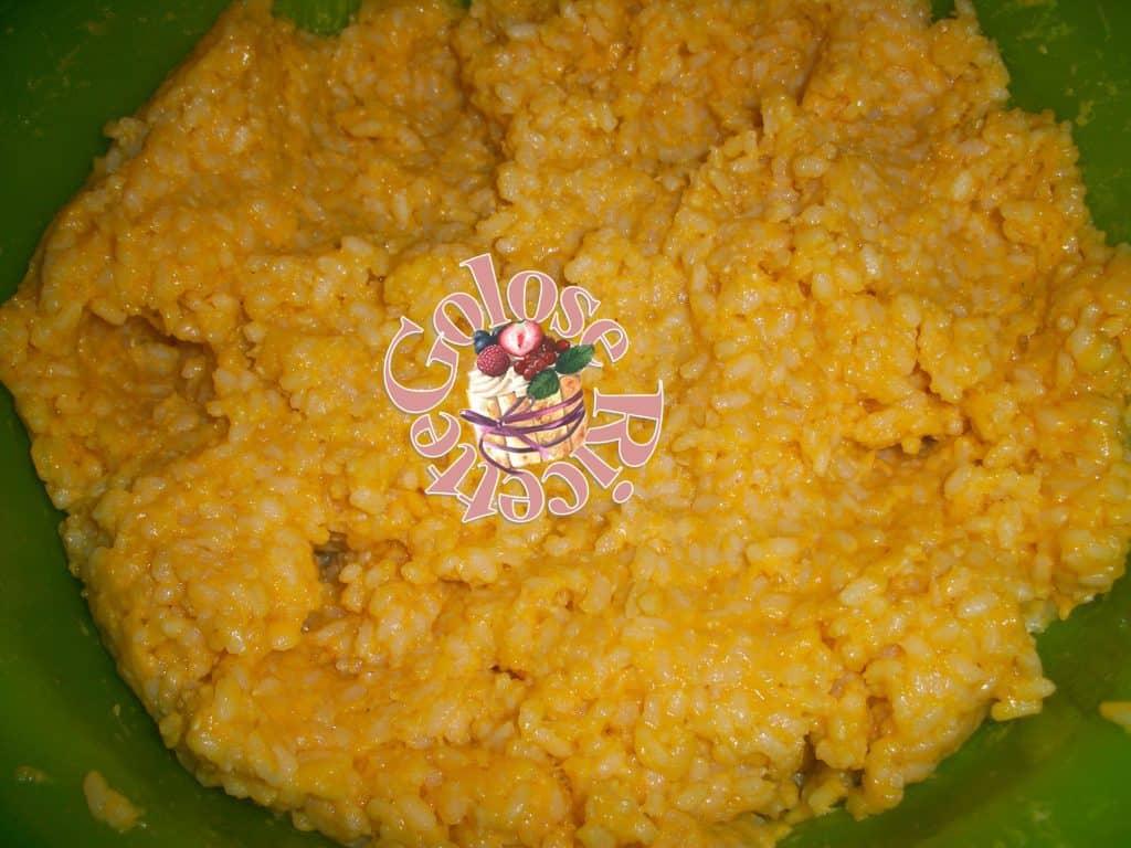 Arancini supplì di riso impasto