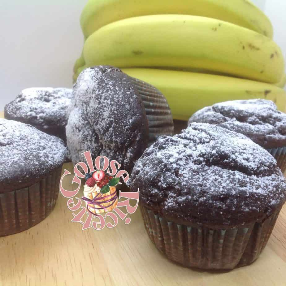 Muffins al cioccolato e banana