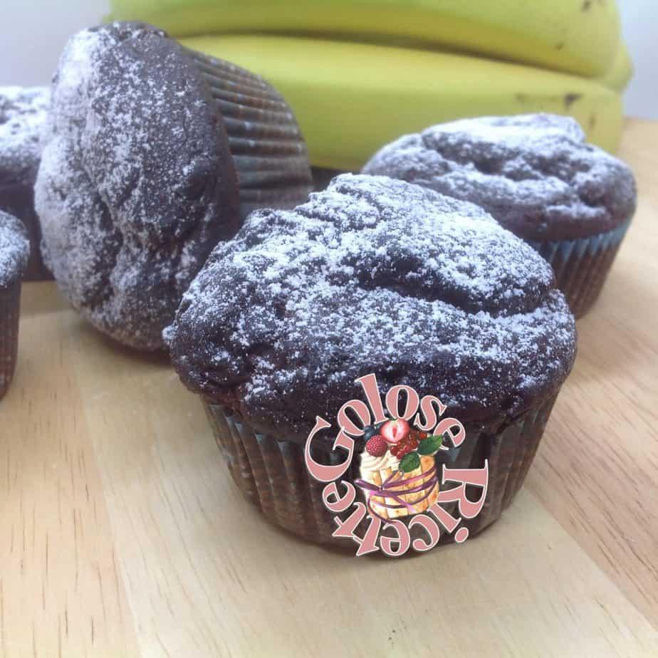 Muffins al cioccolato e banana, ricetta di Julie Andrieu