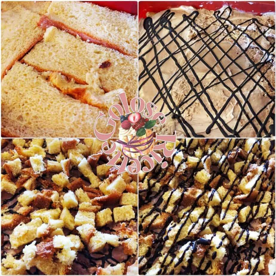 Mattonella di pandoro e gelato