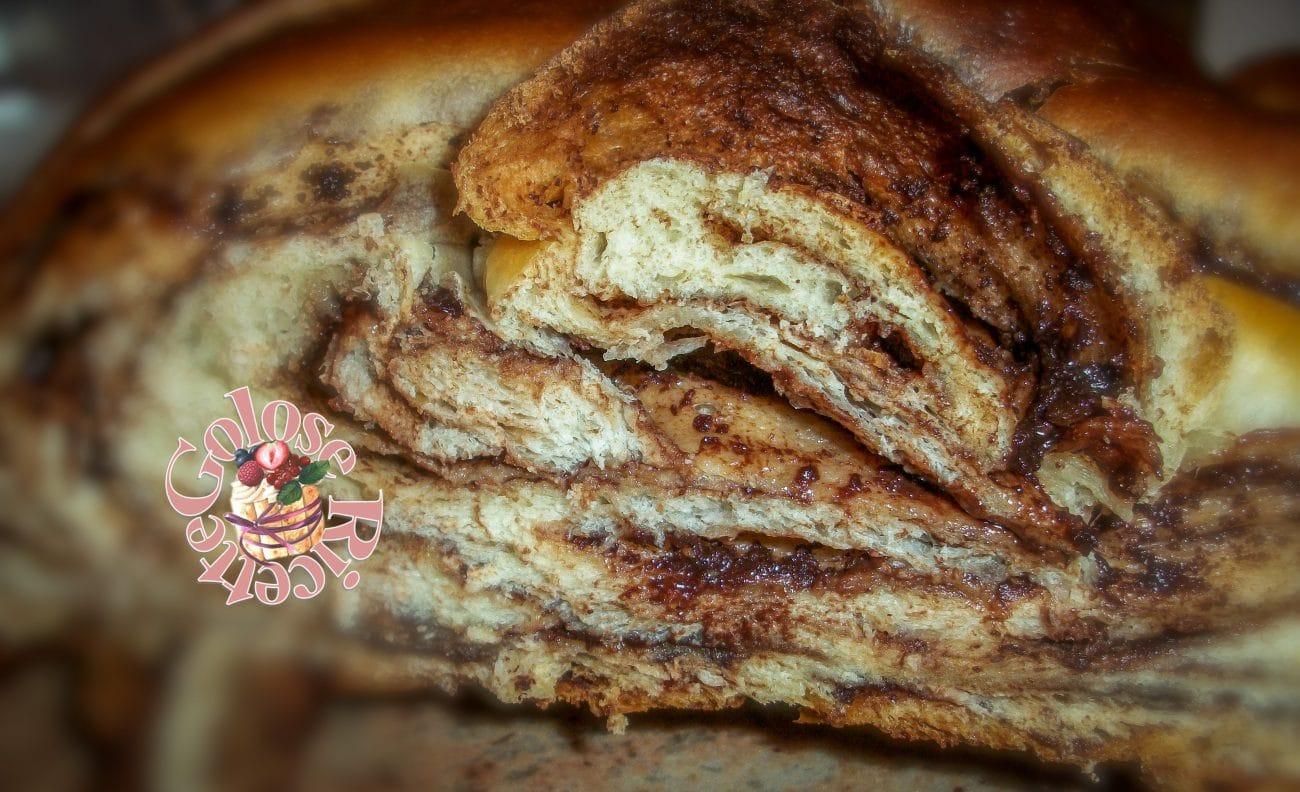 Treccia PAN DI LATTE con nutella, ricetta