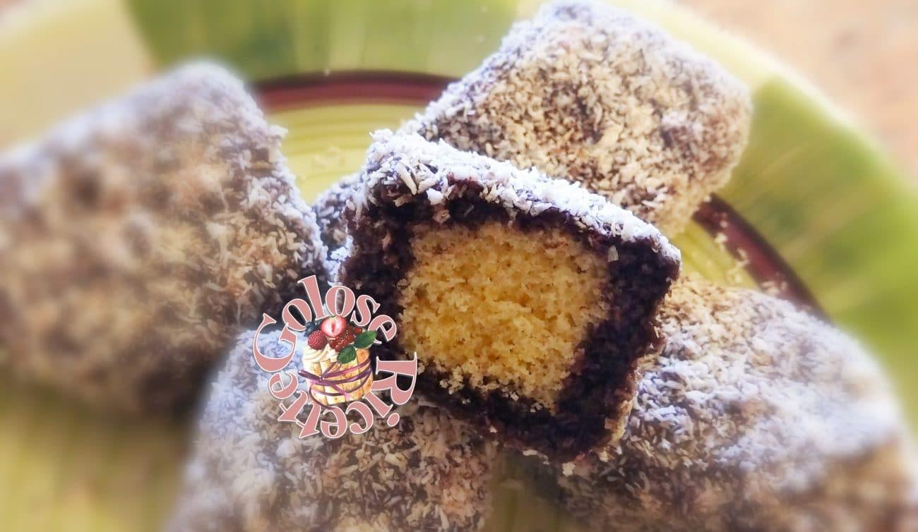 Lamingtons,ricetta dolcetti australiani cocco e cacao