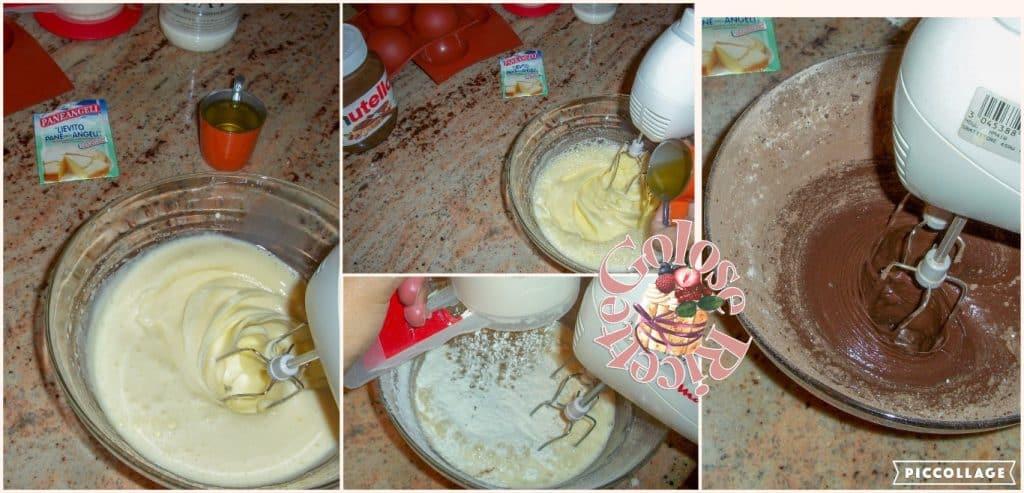 tortino al cacao e nutella parte 2