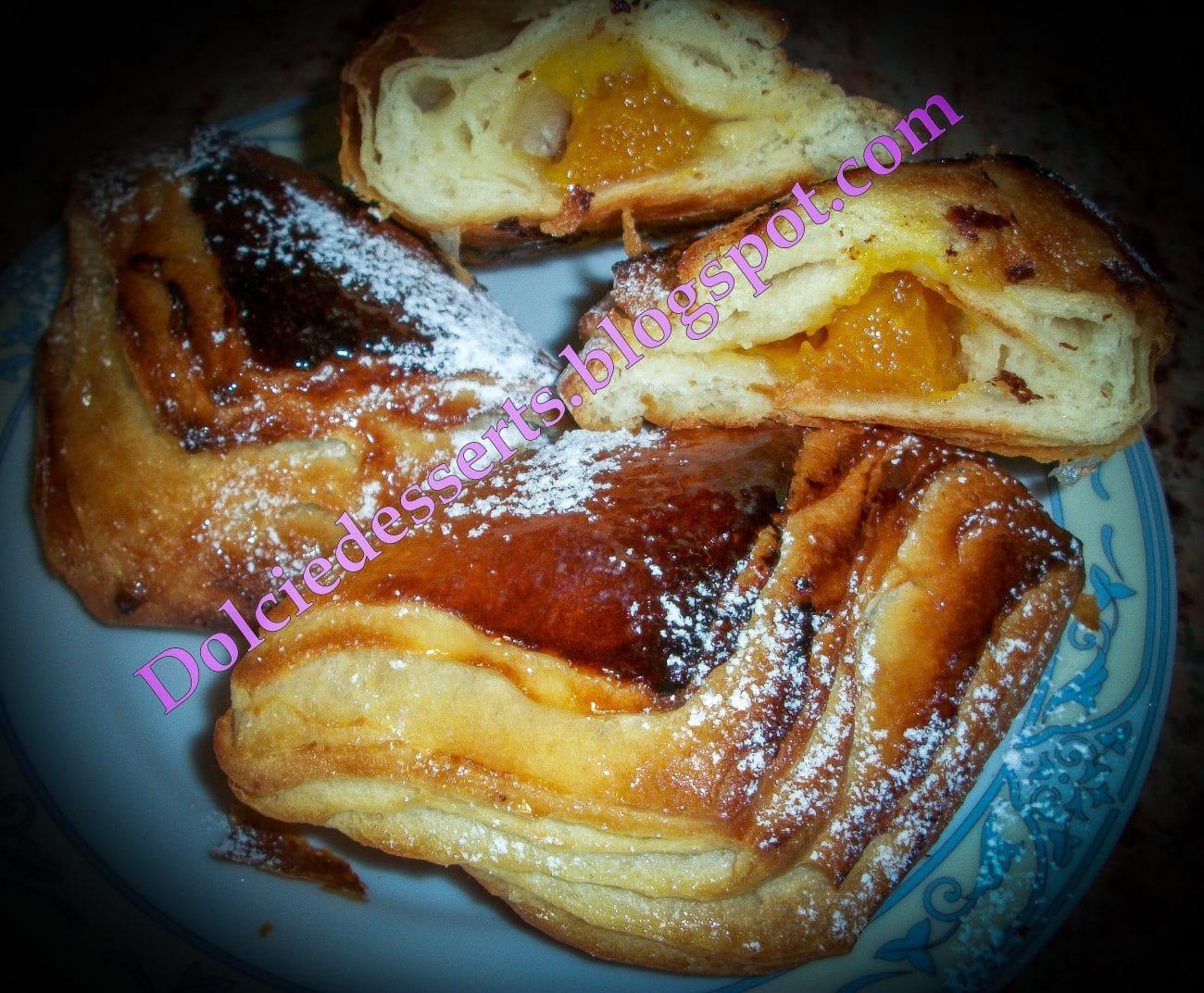 Fagottini con marmellata  – brioche sfogliata ripiena