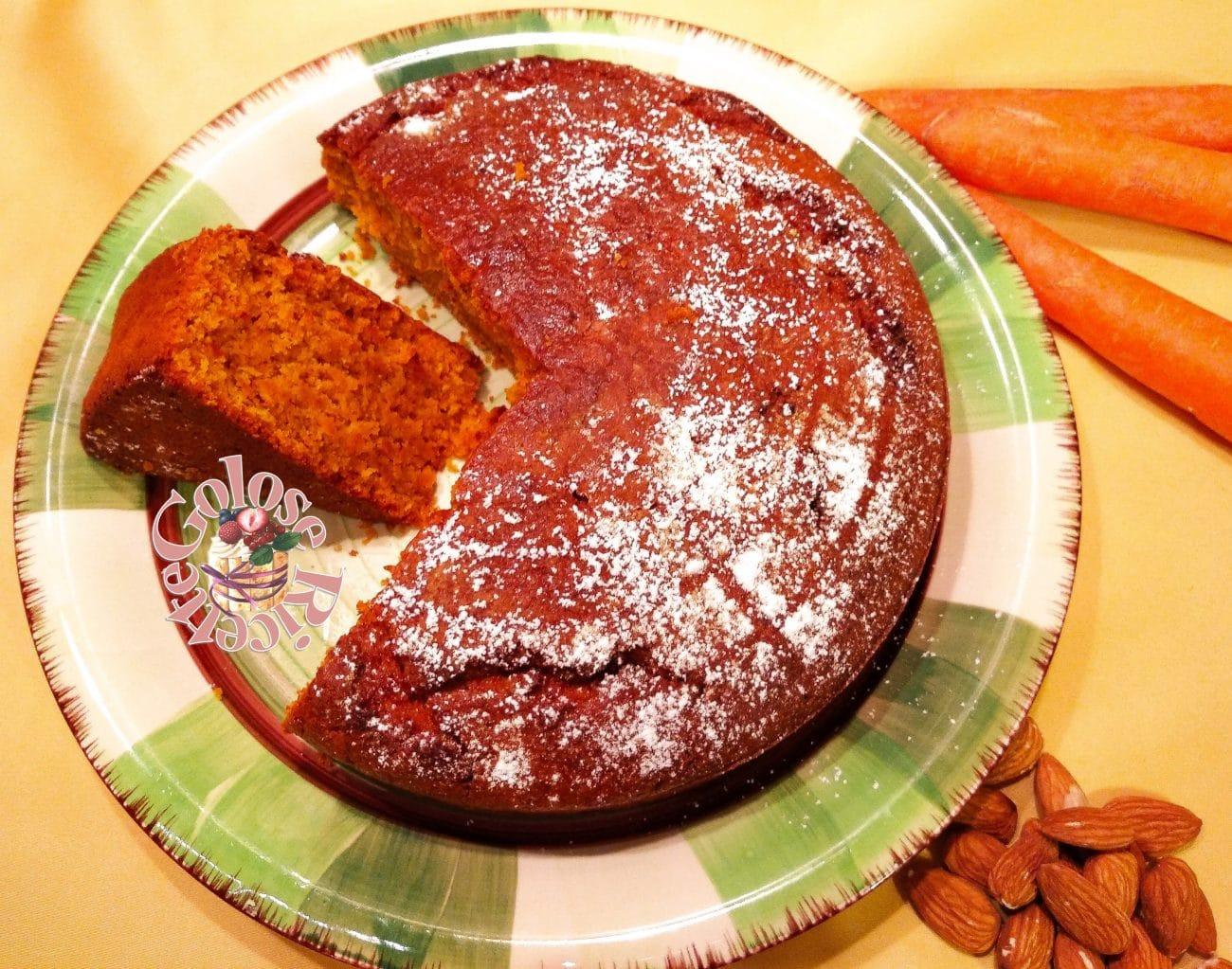 Torta di carote, ricetta senza uova e senza burro