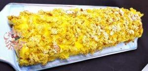 rotolo mimosa con crema pasticcera